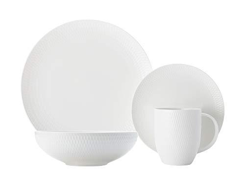 Maxwell & Williams - Diamonds Round - Kaffee- und Tafelset - 16-TLG. - Porzellan - weiß Diamond Becher