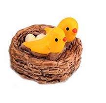 Luwu-Store Nido en miniatura compatible con pájaros Navidad Diy resina hada jardín...