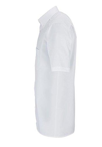 MARVELiS-Hemd 7971-12-00 weiss halbarm Button-Down Weiß