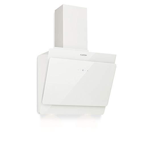 Klarstein Aurica 60 • Dunstabzugshaube • Abzugshaube • Wandabzugshaube • Abluft/Umluft • 3 Stufen • 610 m³/h max. Abluft • 60 cm • weiß