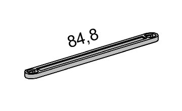 fischertechnik ® - 19 Stück - Statik Strebe - X-Strebe - X Strebe - 84.