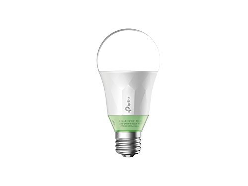 TP-Link LB110 Smart LED Wi-Fi Light Bulb, Dimmable White, E27, 10 W (Works with Alexa, B22 Bayonet Adapter Included, No Hub Required) [Energy Class A+]