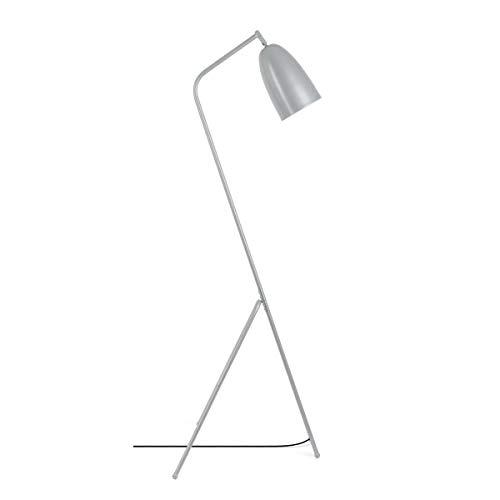 Black Velvet Studio Lamp. Pied Mr Smith, métal, Color Gris, 150x32x32 cm.