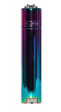 Clipper Feuerzeug - New Mix Farbe Blau Gr&uumln Purple - Metal Flint - in Metall-Geschenkbox