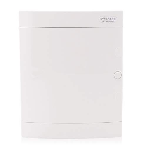 Sicherungskasten Aufputz IP40 Feuchtraum Verteiler Gehäuse 2-reihig 24 Module Weiße Tür