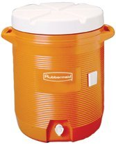 p1840999-Isolierte Wasser Kühler, 5Gal, Orange, 10quot; Dia X 191/2quot; H, Polyethylen ()