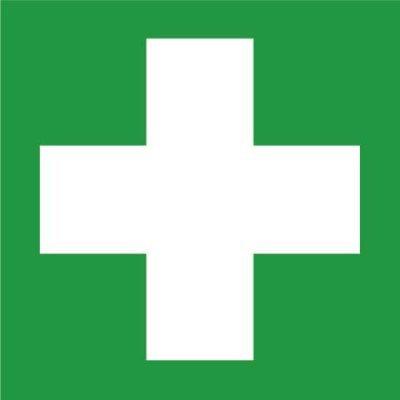 Schild Erste Hilfe selbstklebend Selbstklebende Rettungs-, Brandschutz- und Verbotszeichen aus Kunststoff. Rettungs- und Brandschutzzeichen nach ASR 1.3.