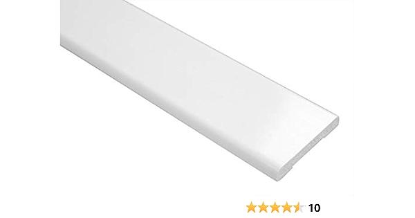 PVC 25 mm x 6 mm Schwarz 940 mm Flachleiste