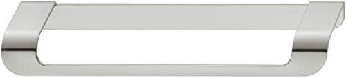 Gedotec Bügelgriff Design Schubladengriff Küche Möbelgriff 160 mm - Modell H10133 | Länge 180 mm | Kommoden-Griff mit Höhe 19 mm | Möbel-Griffleiste Edelstahl-Finish | 1 Stück - Schrankgriff gebogen -