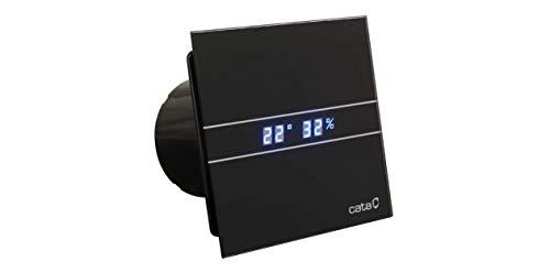 Cata E 100 GTH BK Bad-Abzieher, Timer Hygro, 8 W, Schwarz