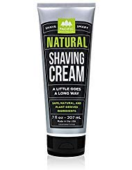 Pacific Shaving Company Natural Shave Cream - with Safe, Natural, and Plant-Derived Ingredients for a Smooth Shave, Healthy, Hydrated, Softer Skin, Less Irritation, Cruelty-, Made in USA, 7 oz