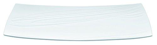 LOT DE 6 ASSIETTES RECTANGULAIRES FOOD'JI PORCELAINE L230 x lg110 mm.