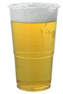 Klar Starke Kunststoff Einweg Pint Bier Tassen Becher Gläser Party Event Geburtstag, plastik, Pint (Becher Klar Party)