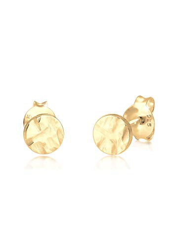 Elli Damen-Ohrstecker 925 Sterlingsilber vergoldet 0303441919