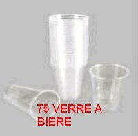 LOT DE 3 SET DE 25 GOBELETS BIERE 33CL
