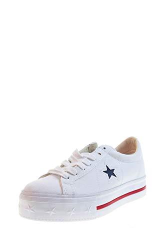 Calzado Deportivo para Mujer, Color Blanco, Marca CONVERSE, Modelo Calzado Deportivo para Mujer CONVERSE One Star Platform OX Blanco