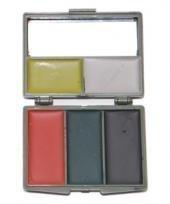 Army Tarnschminken Set mit Spiegel Make Up 3 Farben oder 5 Farben (5 (Make Up Militär Kostüm)