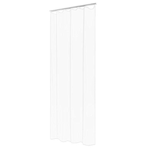 Kräuselband Vorhang Gardine weiss uni halbtransparent 140x245cm #5042