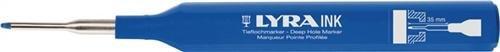 Tieflochmarker blau Minenschaft 35 mm mit Halteclip LYRA INK
