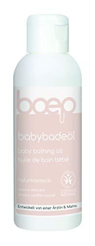 boep babybadeöl - Naturkosmetik - Badezusatz aus Bio-Jojobaöl und Mandelöl - Liebevoll entwickelt von einer Ärztin und Mama (150ml) (Bio-baby-badewanne)