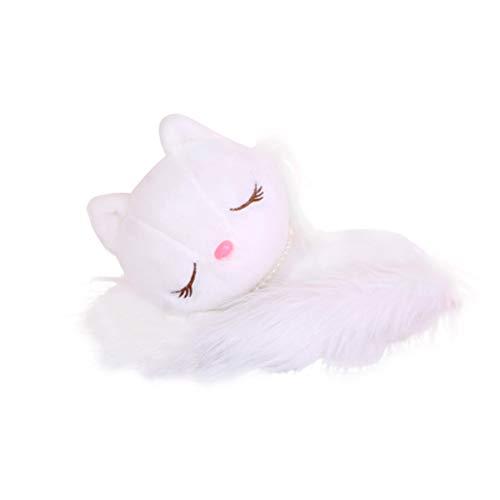 BESTOYARD Plüsch-weißer Fox angefüllter Fox-Puppe-Karikatur-Tierkissen-Kissen