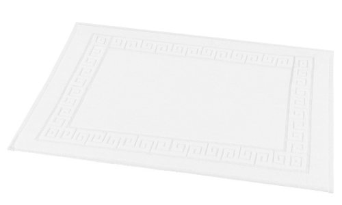 fleuresse Frottier 3135 Fb. 10 Badematte, 50 x 70 cm mit Ringsum-Bordüre, 2-er Pack, weiß