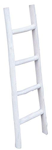 Biscottini scala in legno decorativa - portasciugamani - ideale per bagno, camera e altri ambienti - l29xpr6xh100 cm