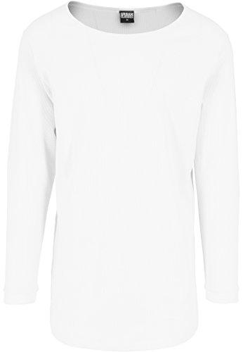 Urban Classics Herren Langarmshirt Shaped Waffle Long Sleeve Tee White