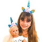 Genius Dolls Matching Unicorn Horn Headband -fits All 18 inch Dolls Like American