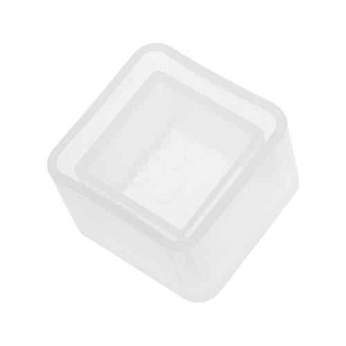 JAGETRADE Cube Flower Pot DIY Silicone Molds Garden Planter Cement Concrete Vase Soap Moulds -