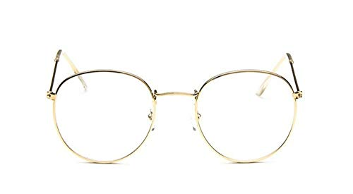 Sonnenbrille Runde Gläser Frame Frau Männer Gläser Gold Retro Optical Frames Metall Klare Linse Schwarz Silber Gold Brillen
