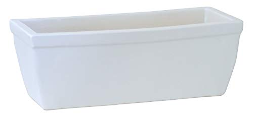 Pots de balcon 38 x 20 x 18 cm Résiste Au Gel en céramique de faïence de meilleure qualité que/Blanc mat