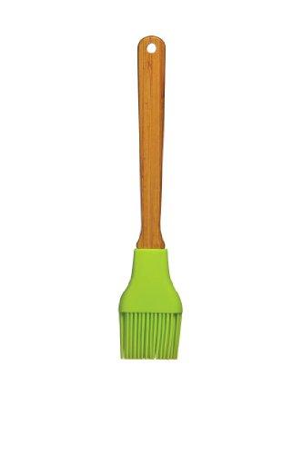 Premier Housewares 0804970 Pinceau à Pâtisserie + Poignée Silicone/Bambou Vert Lime