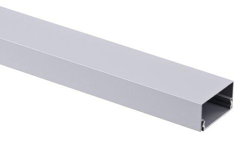 Alu Kabelkanal silber eckig 115x3,7 cm für TV HiFi Computer Lampen Aluminium Abdeckung LED, Plasma...