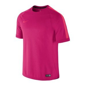 Nike SELECT FLASH SS TRNG TOP FUCHSIA FORCE/DK GREY HEATHER/ - L (Heather Dk)