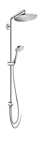 hansgrohe Croma Select 280 Air wassersparendes Reno Duschsystem, 4 Strahlarten, chrom