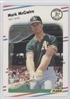 1988 Fleer # 286 Mark McGwire Oakland Athletics Baseball Card