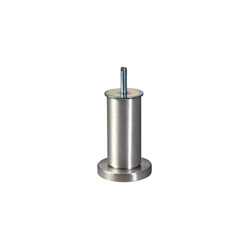 Gedotec Moderner Design Möbelfuss verstellbar Bettfuß mit Höhen-Einstellung - NENA | Sofa-Fuß Höhe 100 mm | Sockelfuß mit Gewindestift M8 mm | Aluminium matt | 1 Stück - Alu Kommoden-Fuß mit Gewinde