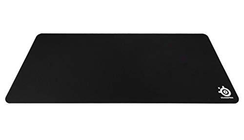 Ratón SteelSeries QcK XXL - Alfombrilla de ratón de juego, 900mm x 400mm, tela, base de caucho, compatible con ratón láser y óptico, negro
