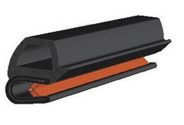 Tür- und Stangenpressen-Abdichtung in Grau, horizontale Kolben, für 16mm Kolbenhöhe x 1-3,5mm Griff-Reichweite x 13,6mm Höhe -