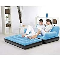 Belanto Enterprise 5 in 1 PVC Three Seater Inflatable Sofa Cum Bed with Air Manual Pump Air Bed for Living Room Beach…