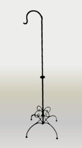 Marokkanischer Laternenständer aus Schmiedeeisen, Metall, 1Haken, Schmetterling-Design, 25x 150cm, Schwarz