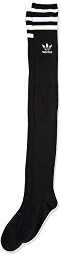 adidas Originals Damen Originals Over The Knee Thigh High Socks (1-Pack), schwarz/weiß, Medium (Shoe Size 5-10)