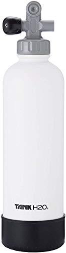 TankH2O Scuba Tanque de vacío Botella con Material Aislante de Agua: el Gran Regalo y Accesorios para los buceadores | Sostiene 700 ml | Cap BPA, Silicona Arranque (Blanco)