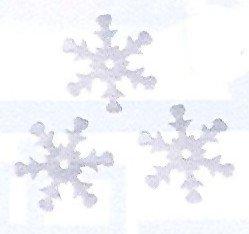 1 Sachet de flocons blancs 20mm- 15 grammes
