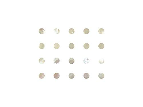 Incudo Precision Perlmutt-Punkte für Einlegearbeiten 8mm Mother Of Pearl (White) -