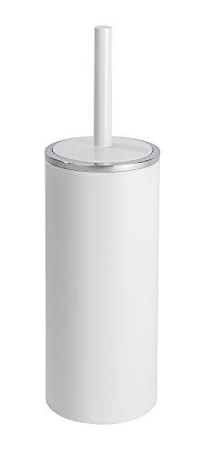 WENKO 22553100 WC-Garnitur Inca White - geschlossener WC-Bürstenhalter, Kunststoff (ABS), 10,5 x 34 x 10,5 cm, weiß