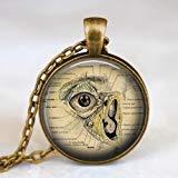 Anatomische Menschen-Augen-Halskette, menschliches Auge-Anhänger, Anatomie-Halskette, Optometrist Halskette, Augenarzt, Augenchirurgie, Medizinische Wissenschaft Halskette