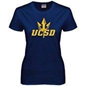 UC San Diego Ladies Navy T Shirt 'UCSD w/Trident' - Large by CollegeFanGear