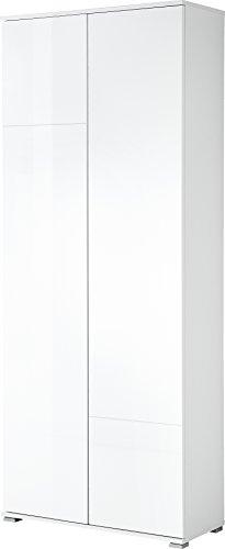 Germania 3322-84 GW-Salamanca Garderobenschrank, beschichtete MDF und Spanplatte, weiß, 34 x 80 x 197 cm